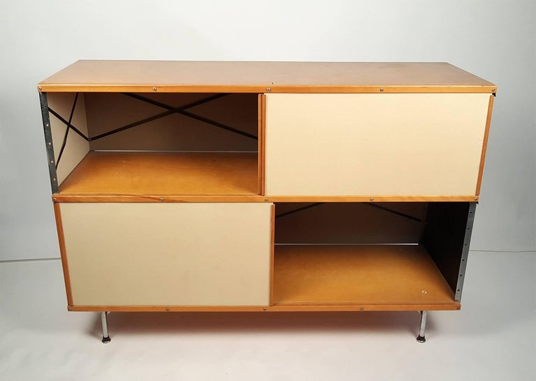 Mid-20th Century 1950s Charles & Ray Eames ESU 200 Storage Unit Credenza for Herman Miller For Sale