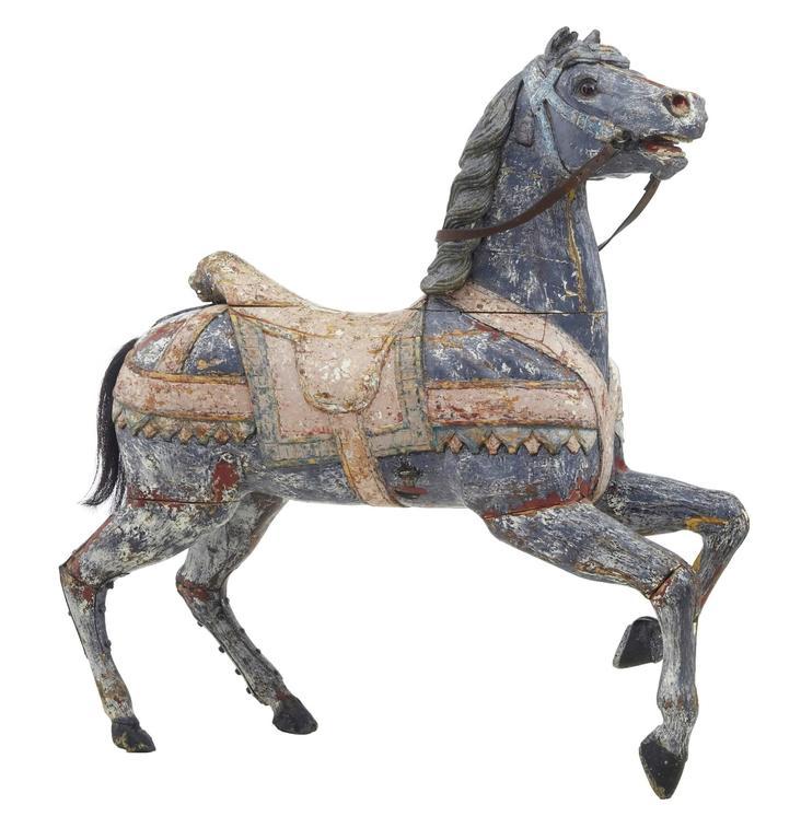 Kontinentales Dekoratives Karusellpferd, Frühes 20. Jahrhundert 1