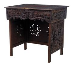 19th Century Chinese Hardwood Folding Traveling Desk Table