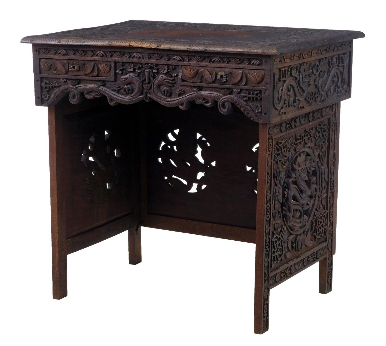 Chinese desks and writing tables 40 for sale at 1stdibs 19th century chinese hardwood folding traveling desk table geotapseo Gallery