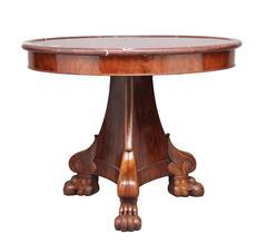 19th Century French Mahogany Gueridon Center Table