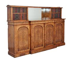 19th Century Walnut Breakfront Cabinet