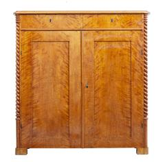 19th Century Swedish Birch Cupboard Sideboard