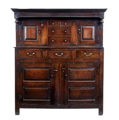 17th Century English Oak Court Cupboard