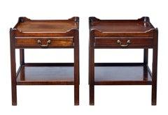 20th century Georgian design mahogany bedside tables