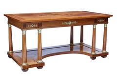 Early 20th century mahogany desk by C E Jonsson of Stockholm