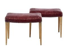 Pair of 1950's Scandinavian oak stools