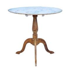 19th Century Painted Swedish Tilt-Top Table