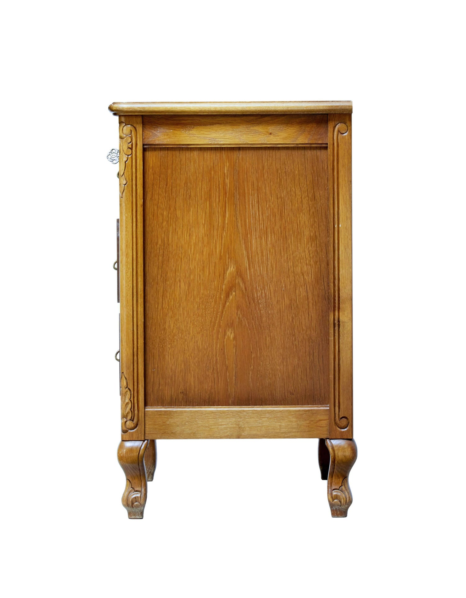 20th Century Small Carved Oak Commode Chest of Drawers For Sale at ...