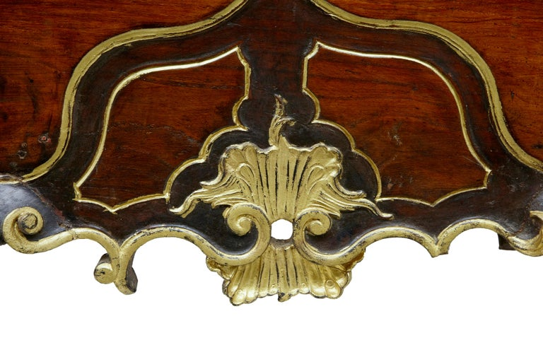 18th Century Portuguese Carved Walnut and Gilt Commode For Sale 4