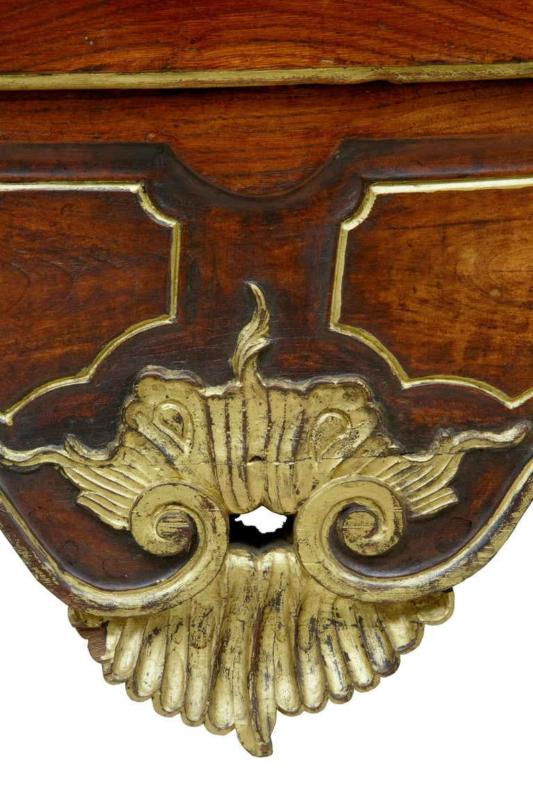 18th Century Portuguese Carved Walnut and Gilt Commode For Sale 6