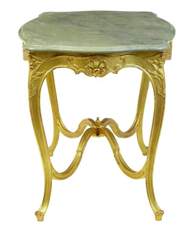 Stunning Early 20th Century Six-Piece Gilt French Salon Suite For Sale 1