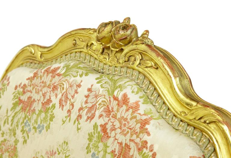 Stunning Early 20th Century Six-Piece Gilt French Salon Suite For Sale 3