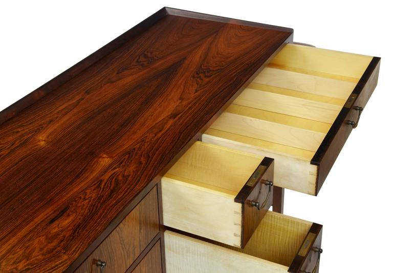 1960s Danish Design Rosewood Dressing Sideboard by Frode Holm For Sale 2