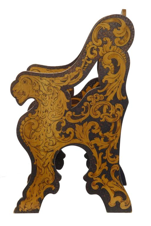 Early 20th Century American, Arts & Crafts Collection of Poker Work Furniture For Sale 1
