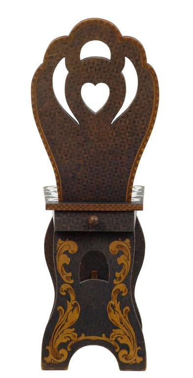 Early 20th Century American, Arts & Crafts Collection of Poker Work Furniture For Sale 4