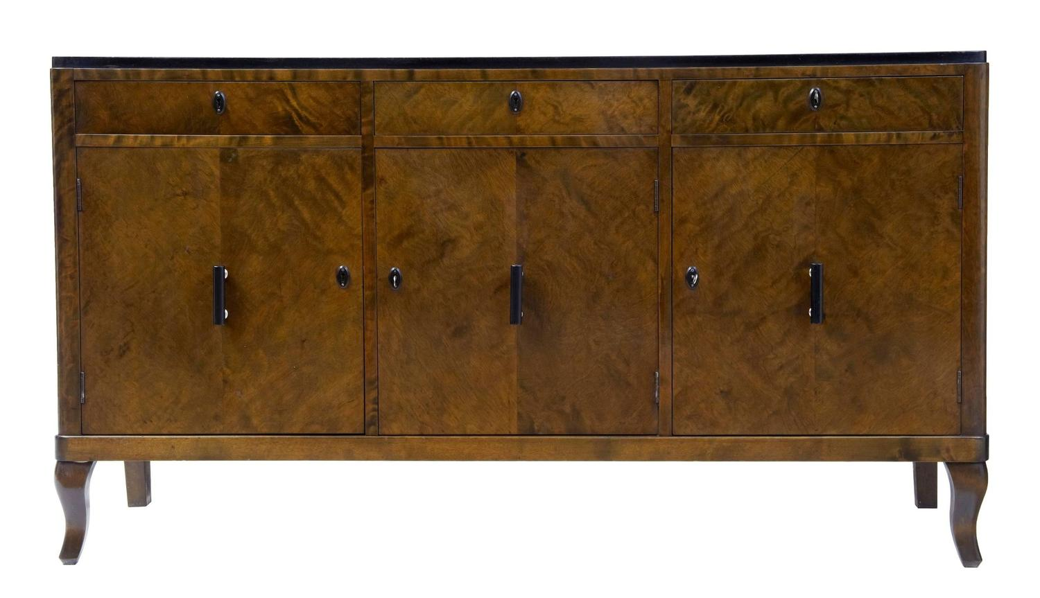 20th century deco birch sideboard at 1stdibs