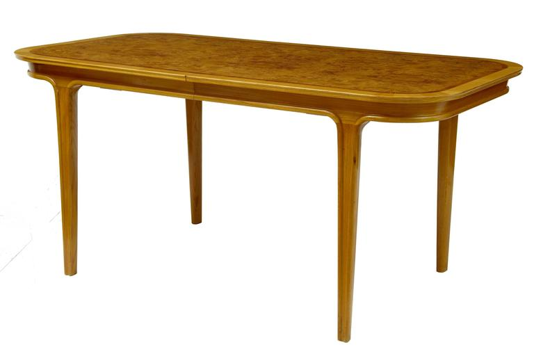 1970s Scandinavian Teak And Walnut Coffee Dining Table For