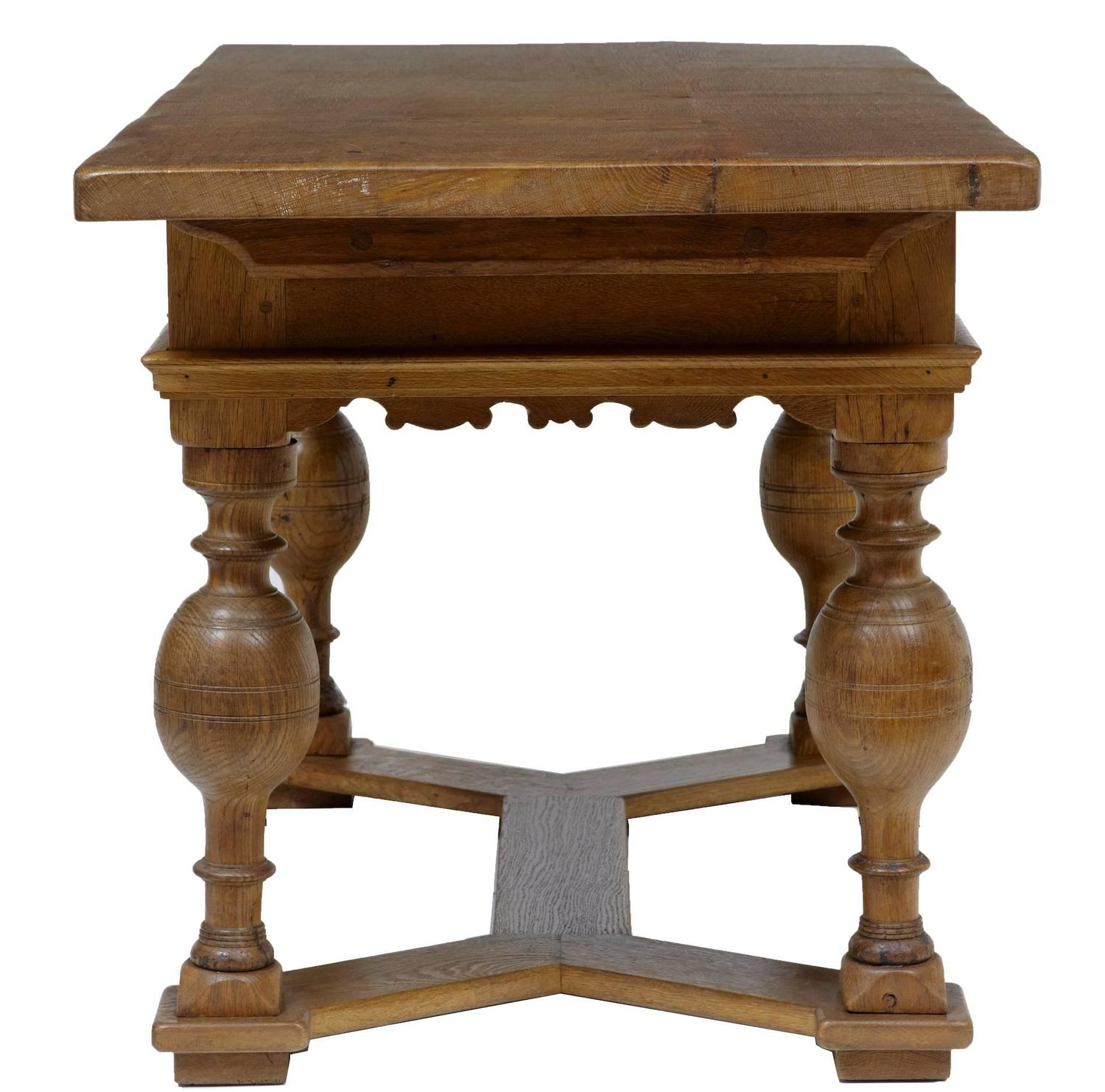 Amazing photo of 19th Century Dutch Oak Small Refectory Dining Table For Sale at  with #3C1F0A color and 1500x1482 pixels