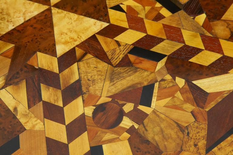 Regency Rare 19th Century Hexagonal Specimen Wood Occasional Table For Sale
