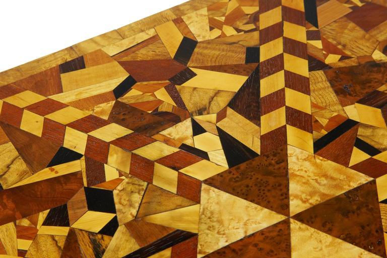 British Rare 19th Century Hexagonal Specimen Wood Occasional Table For Sale