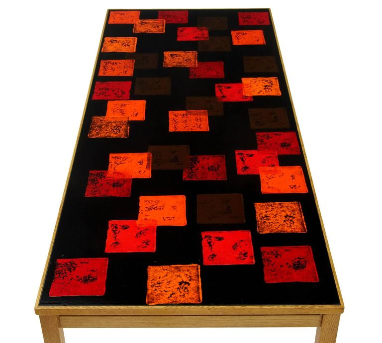 Scandinavian Modern 1960s David Rosen and P Torneman Teak and Enamel Coffee Table for NK For Sale