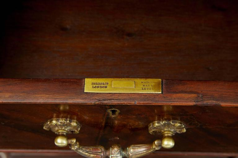 Schöner Mahagoni-Schreibtisch auf Postamenten, Hobbs & Co, Frühes 20. Jahrhundert 7