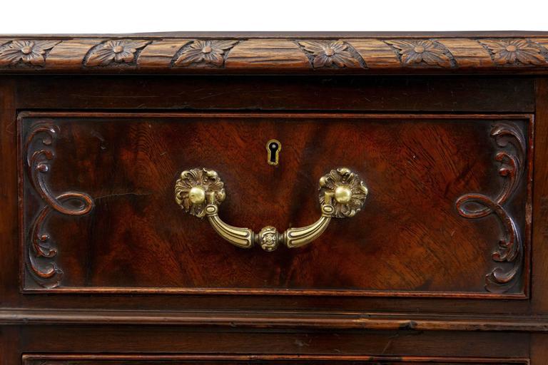 Schöner Mahagoni-Schreibtisch auf Postamenten, Hobbs & Co, Frühes 20. Jahrhundert 8