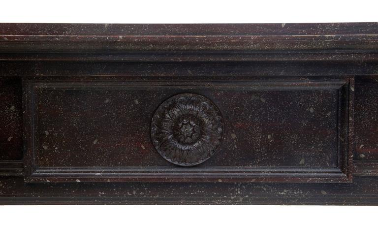 Woodwork 1960s Faux Marble Impressive Adams Influenced Mantelpiece For Sale