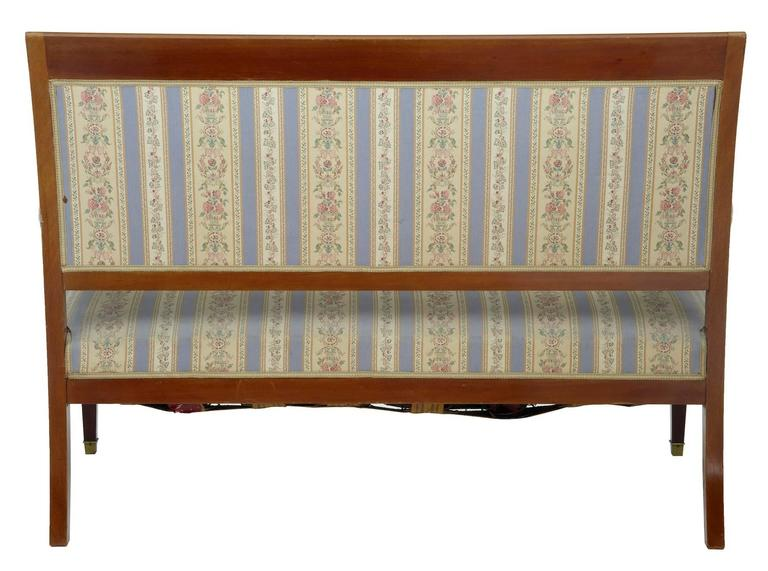 Early 20th Century Inlaid Mahogany Three-Piece Salon Suite In Fair Condition For Sale In Debenham, Suffolk
