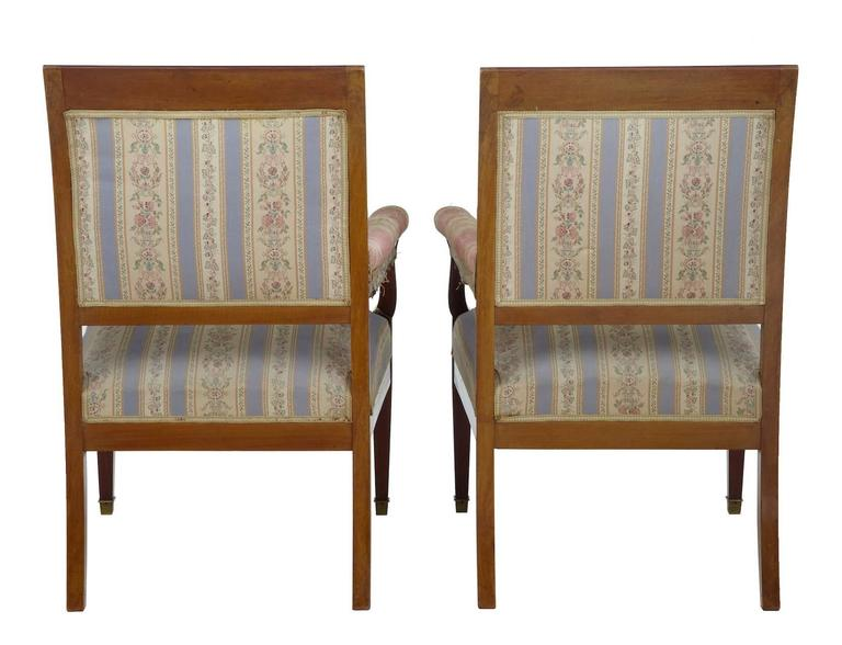 Early 20th Century Inlaid Mahogany Three-Piece Salon Suite For Sale 2