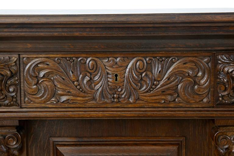 Massive 1920s carved oak baroque sideboard buffet at 1stdibs - Buffet style baroque ...