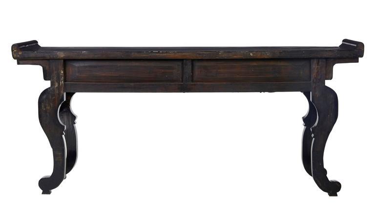 Chinesischer Lackierter Beistelltisch, 19. Jahrhundert 4
