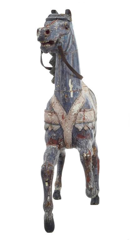 Kontinentales Dekoratives Karusellpferd, Frühes 20. Jahrhundert 2