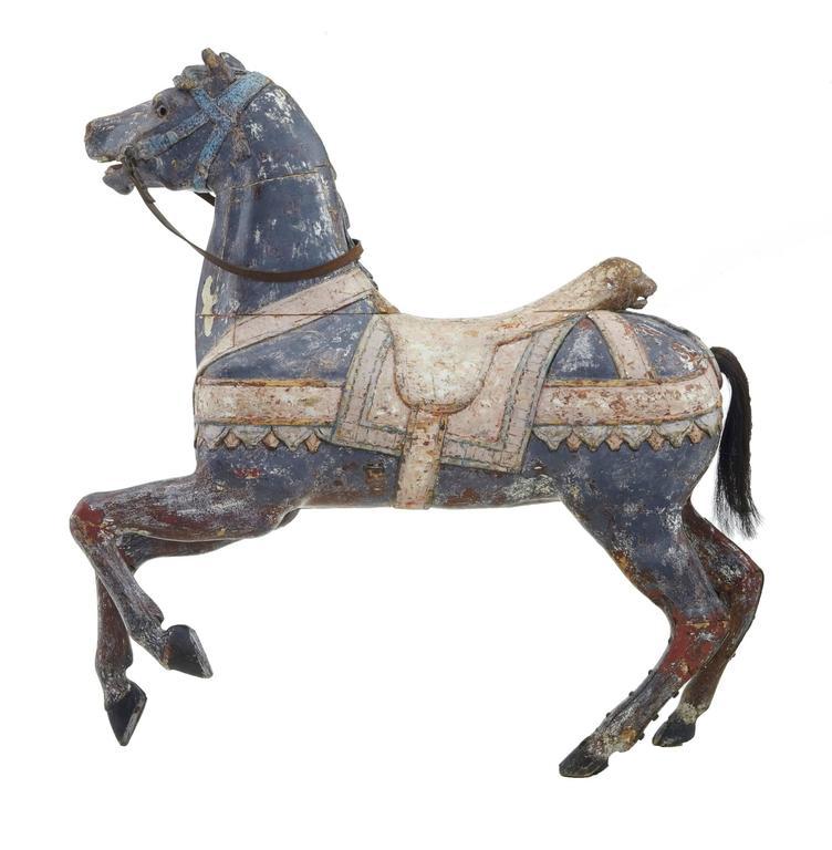 Kontinentales Dekoratives Karusellpferd, Frühes 20. Jahrhundert 3