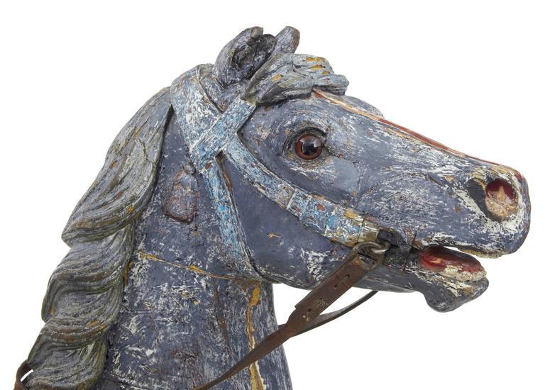 Kontinentales Dekoratives Karusellpferd, Frühes 20. Jahrhundert 8