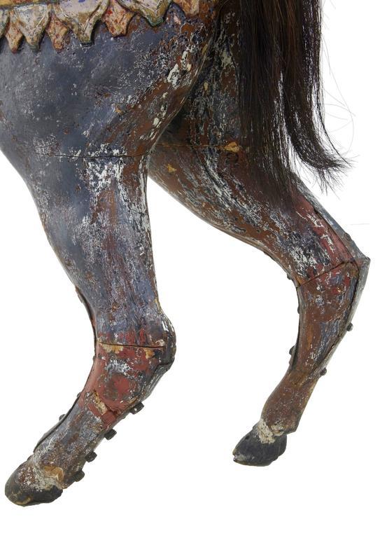 Kontinentales Dekoratives Karusellpferd, Frühes 20. Jahrhundert 9