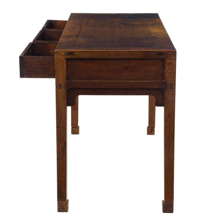 Early 20th Century Elm Chinese Console Table Sideboard 3