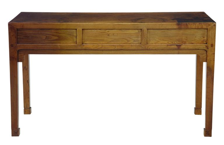 Early 20th Century Elm Chinese Console Table Sideboard 4