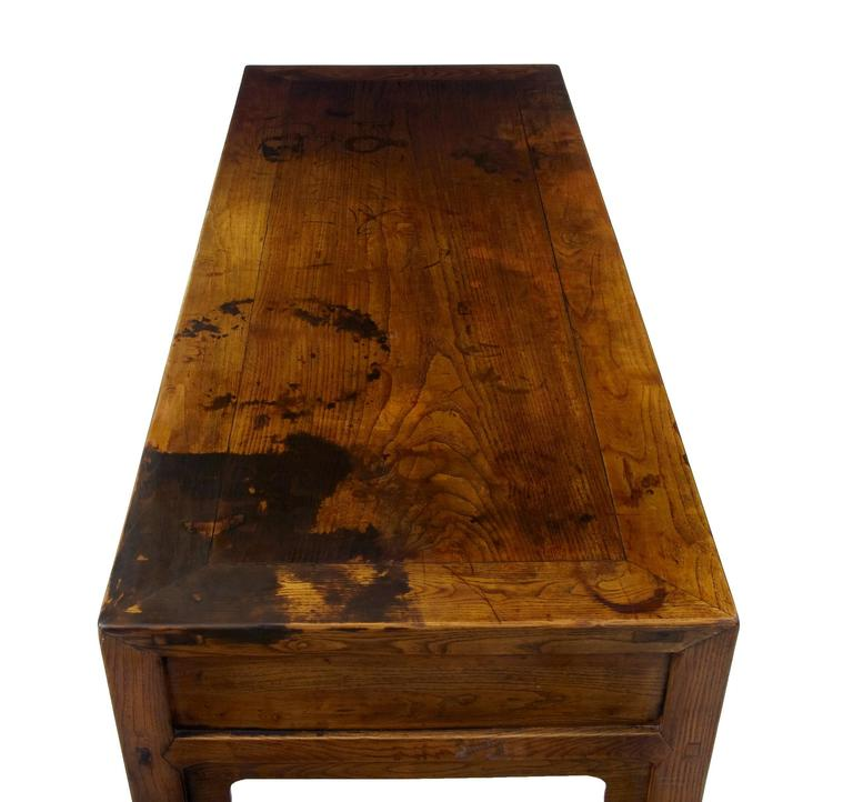Early 20th Century Elm Chinese Console Table Sideboard 5