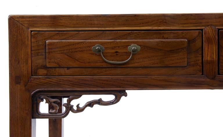 Early 20th Century Elm Chinese Console Table Sideboard 7