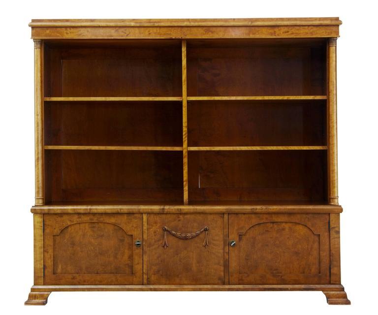Frühes 20. Jahrhundert, Imperialische Renaissance, Bücherregal oder Schrank aus Birke 2