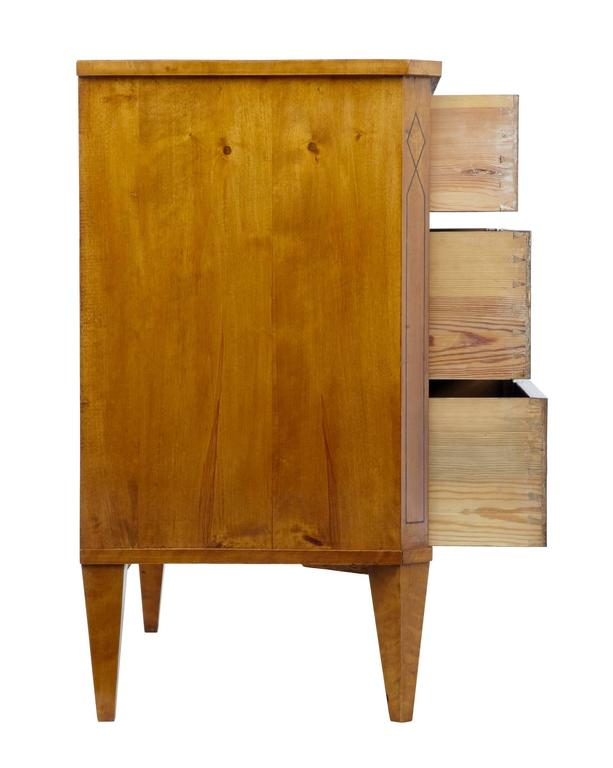 Fine Quality 19th Century Birch Chest of Drawers Commode 5