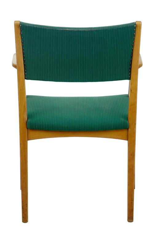 Woodwork Set of Six Scandinavian Modern 1960s Armchairs For Sale