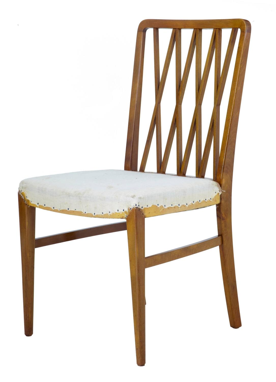 Set Of Ten 1950s Scandinavian Modern Dining Chairs For