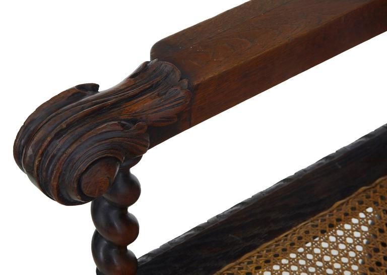 Paar aus Eichenholz geschnitzte barocke Thron-Stühle, 19. Jahrhundert 5