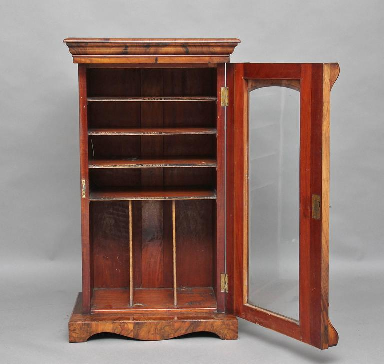 Victorian 19th century burl walnut music cabinet at 1stdibs for 19th century kitchen cabinets