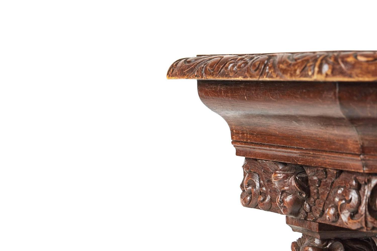 19th century unusual carved oak center table for sale at for Unusual tables for sale