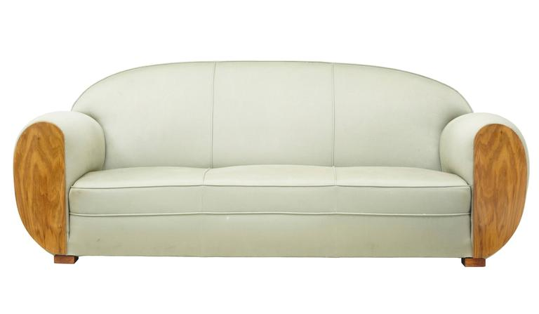 Good Quality 1970s Sofa In The Art Deco Taste. Very Comfortable Lounging  Sofa. Shaped