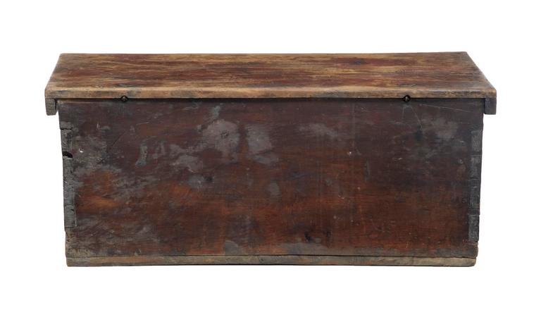 Swedish Early 18th Century Continental Fruitwood Marriage Chest Coffer